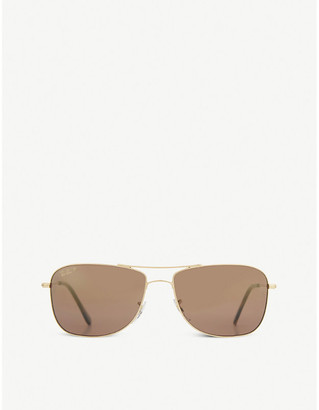 Police RB3543 Aviator sunglasses, Mens, Shiny gold