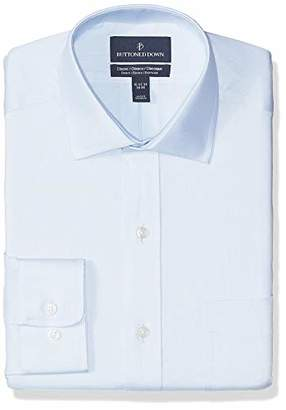 Buttoned Down Men's Classic Fit Stretch Twill Non-Iron Dress Shirt
