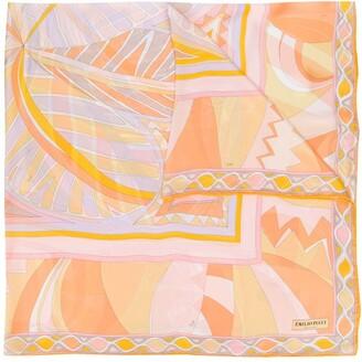 Emilio Pucci Geometric Print Silk Scarf