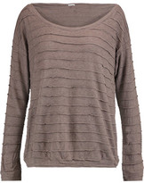 Eberjey Clyde Paneled Textured-Knit Top