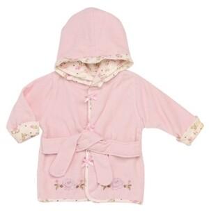 Little Me Vintage-Like Rose Baby Hooded Bathrobe