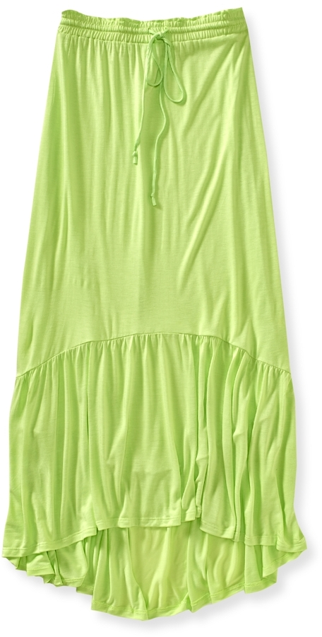 Aeropostale Solid Jersey Maxi Skirt