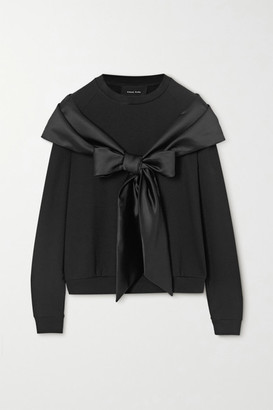 Simone Rocha Bow-detailed Stretch-jersey Sweater - Black