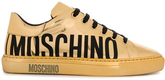 Moschino Metallic Low-Top Logo Sneakers