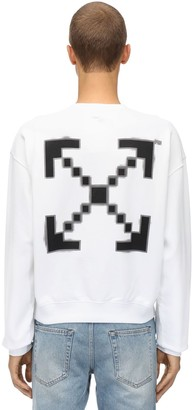 Off-White Oversize Printed Cotton Sweatshirt