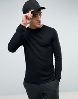 Bellfield Muscle Fit Long Sleeve T-Shirt In Waffle