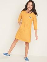 Old Navy Graphic Brushed Jersey Pocket Dress for Girls