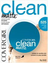 Cover Girl Clean Matte Pressed Powder Buff Beige 10 g (Pack of 2)