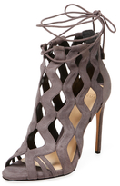 Alexandre Birman Cut-Out Suede Sandal