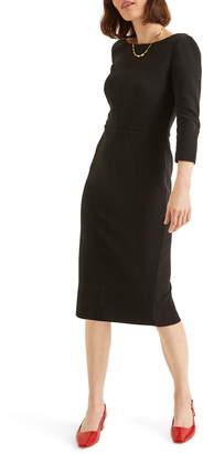 Boden Aurelia Ottoman Horizontal Ribbed Dress