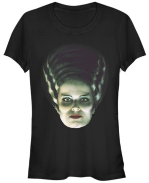 Fifth Sun Universal Monsters Women's Bride of Frankenstein Big Face Short Sleeve Tee Shirt