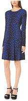 Michael Kors Animal-Print Cotton-Blend Sweater Dress