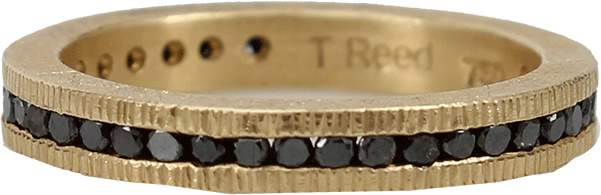 Todd Reed Channel Set Black Diamond Eternity Ring