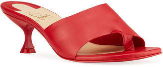Christian Louboutin Viva Cancan Red Sole Slide Sandals