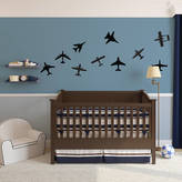 Vinyl Revolution Airplanes Wall Art Decal Pack For Kids