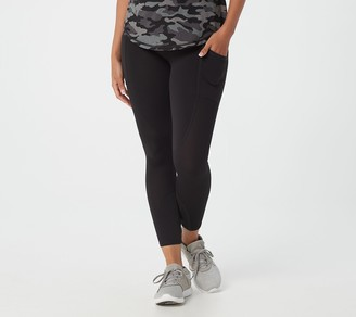 zuda Petite Z-Move 7/8 Leggings with Mixed Mesh