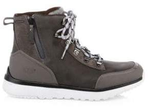 UGG Men's Caulder Leather Outdoor Boots - Dark Grey - Size 11