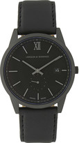 Larsson & Jennings Saxon stainless steel and leather watch