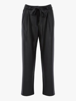 Mint Velvet Faux Leather Trouser - Black