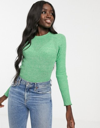 Asos DESIGN reycled blend crew neck sweater in skinny rib twist