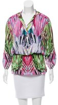 Roberto Cavalli Abstract Print Silk Tunic