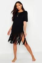 Thumbnail for your product : boohoo Tassel Beach Dress