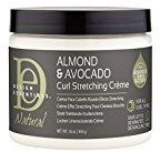Natural curl Design Essentials Natural Almond & Avocado Curl Stretching Cream 16oz- Elongate and Define, Frizz-Controlled Curls with Radiant Shine for Natural Hair