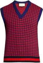 Gucci Wool and cashmere-blend sleeveless knitted top