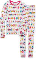 Asstd National Brand Cuddl Duds 2-pc. White Owl Pajama Set - Girls 4-16
