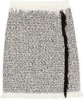 Lanvin Fringed cotton-blend tweed mini skirt
