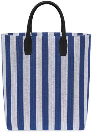 Mansur Gavriel North South Striped Canvas Tote Bag