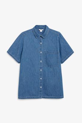 Monki Denim short sleeve shirt