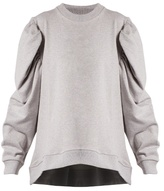 Marques Almeida MARQUES'ALMEIDA Puff-sleeved cotton-jersey sweatshirt