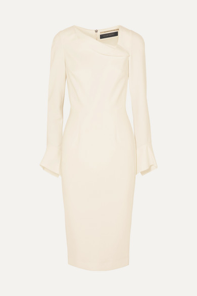Thumbnail for your product : Roland Mouret Liman Fluted Crepe Dress - White