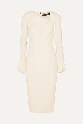 Roland Mouret Liman Fluted Crepe Dress - White