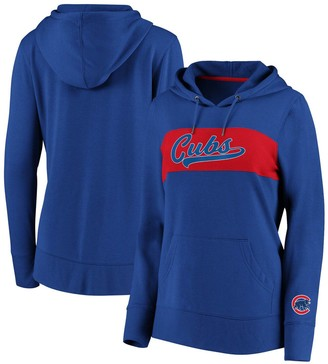 Women's Fanatics Branded Royal Chicago Cubs Colorblock Pullover Hoodie