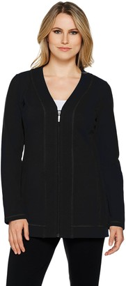 Denim & Co. Active French Terry Zip Front Long Sleeve Jacket