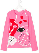 Kenzo print long-sleeved T-shirt - kids - Cotton/Spandex/Elastane - 14 yrs