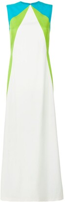 Talbot Runhof Tri-Colour Sleeveless Gown