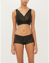 Wacoal Net Effects floral-embroidered mesh bra