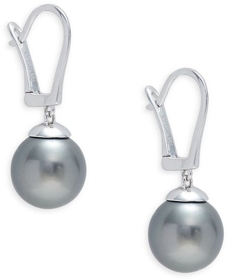 Tara Pearls 14K White Gold Round Tahitian Pearl Earrings