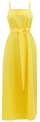 Mara Hoffman Philomena Belted Cotton-blend Slip Dress - Yellow