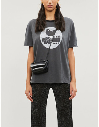Free People Woodstock graphic-print cotton-blend T-shirt