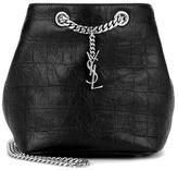 Saint Laurent Embossed Leather Bucket Bag