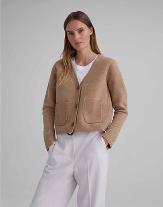 Club Monaco Boiled Wool Cardigan