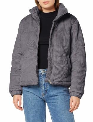 New Look Women's Cut Faux Fur Puffer Coat