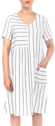 Jump Wide Stripe Panelled Dress