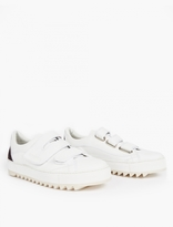 Raf Simons White Leather Extreme Sole Sneakers