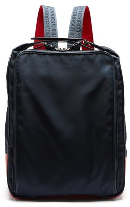 Christian Louboutin Hop'n Leather-trimmed Nylon Backpack - Navy