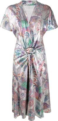 Paco Rabanne Metallic Belted Dress